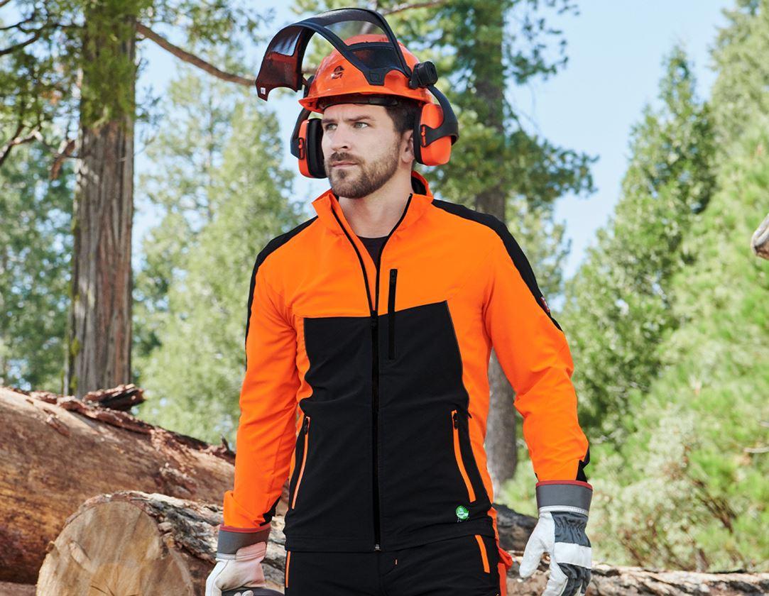 Vestes de travail: Veste de forestier e.s.vision d'été + orange fluo/noir