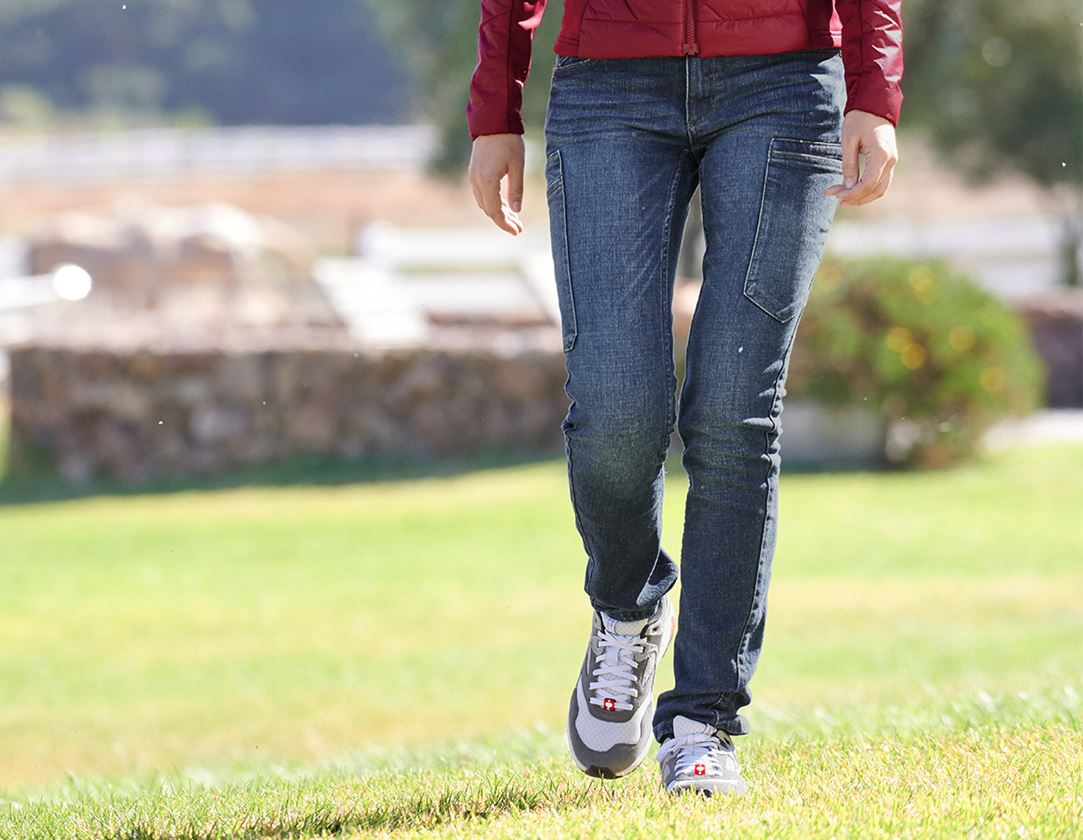 Hosen: e.s. 7-Pocket-Jeans, Damen + stonewashed