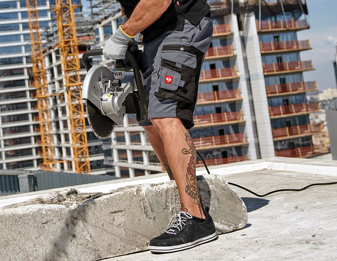 Work Trousers: Shorts e.s.motion + grey/black