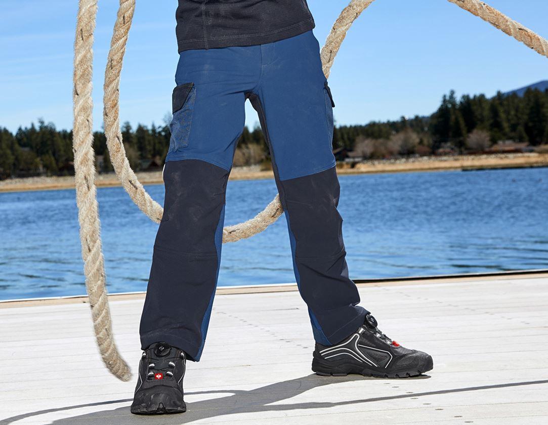 Pantalons: Fonct. pantalon Cargo e.s.dynashield, enfants + cobalt/pacifique