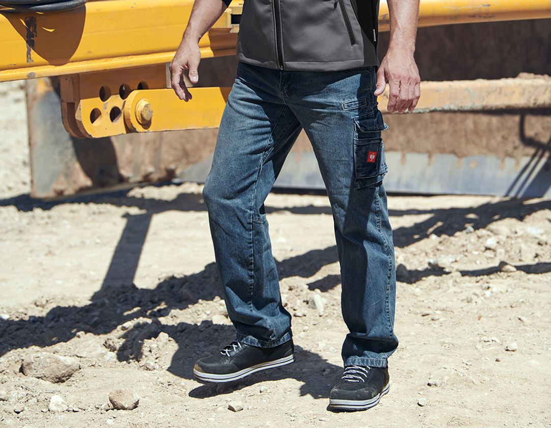 Work Trousers: e.s. Worker jeans + stonewashed