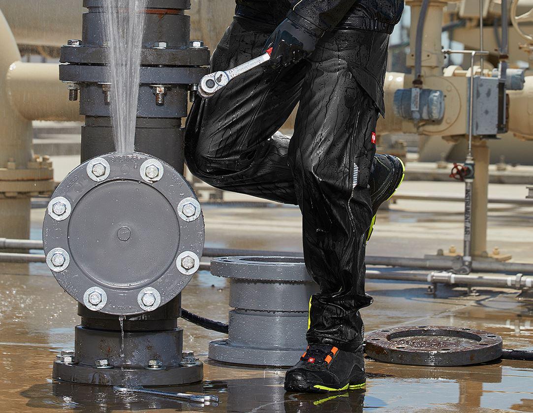 Hosen: Regenbundhose e.s.motion 2020 superflex + schwarz/warngelb/warnorange