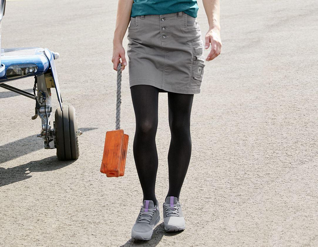 Kleider | Röcke: Rock e.s.motion ten, Damen + granit