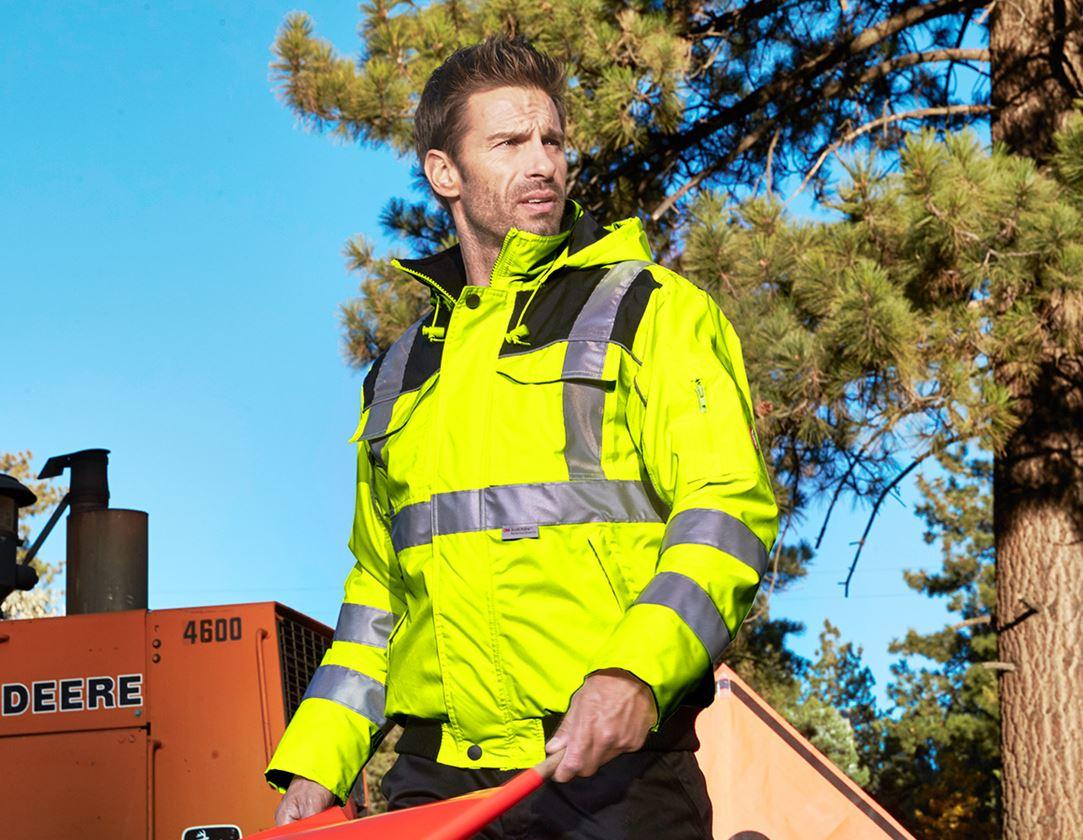 Work Jackets: High-vis pilot jacket e.s.image + high-vis yellow