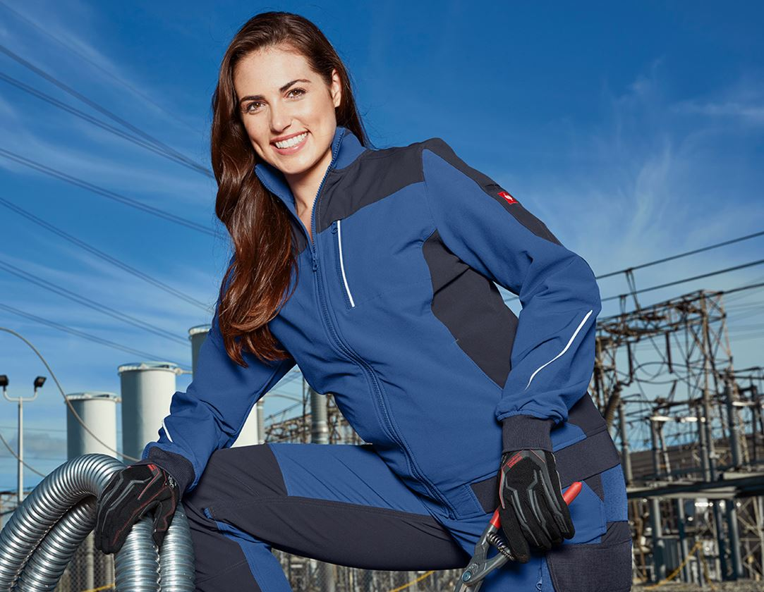 Work Jackets: Functional jacket e.s.dynashield, ladies' + cobalt/pacific