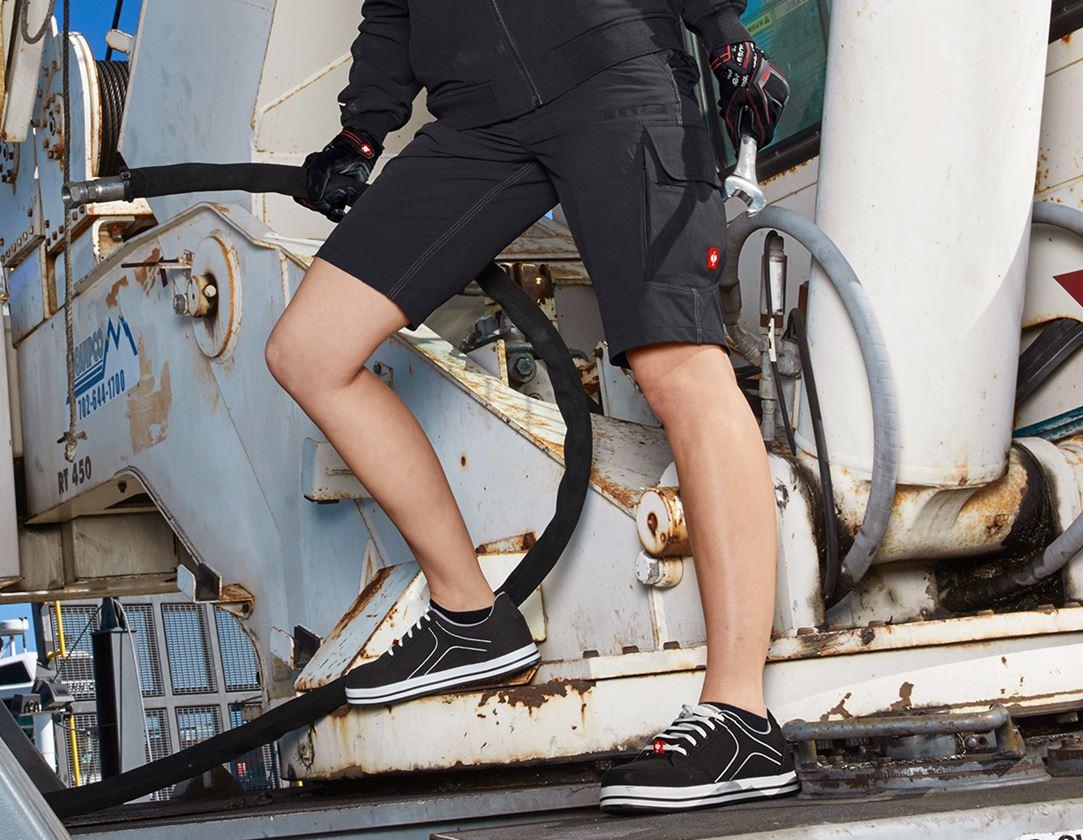Pantalons de travail: Fonctionnelle short e.s.dynashield, femmes + noir