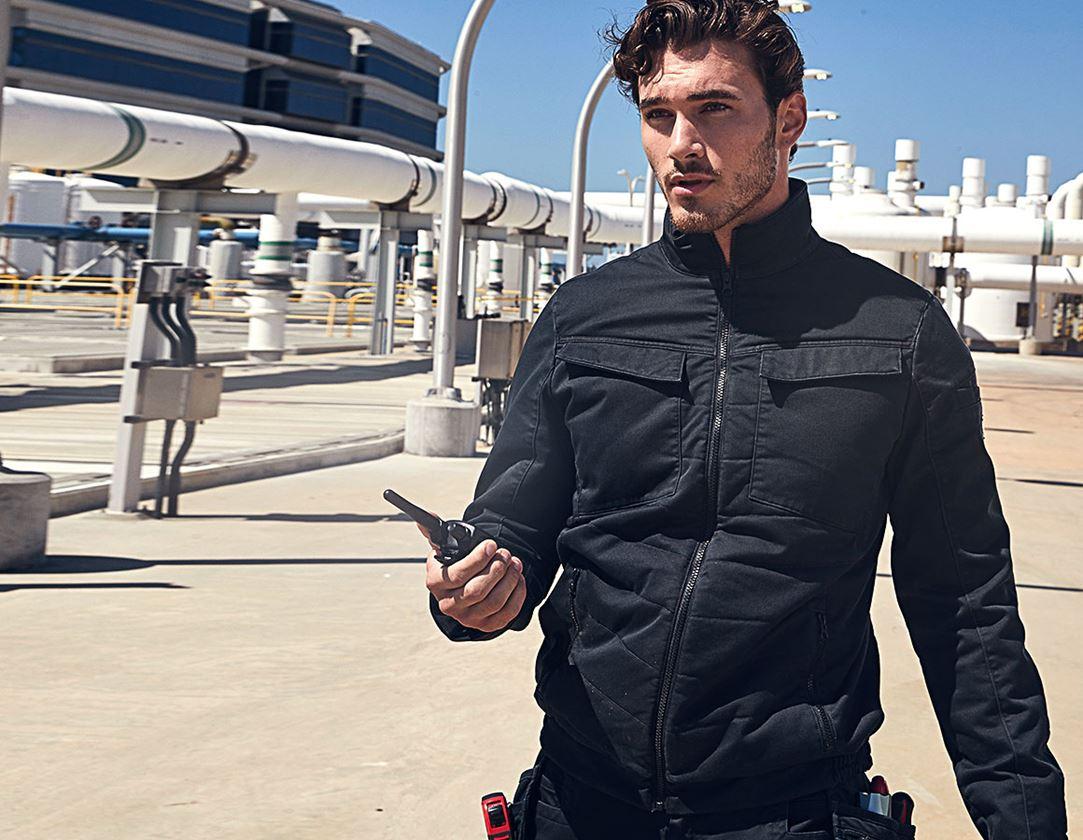 Vestes de travail: Vest de travail toute saison e.s.motion ten + noir oxyde