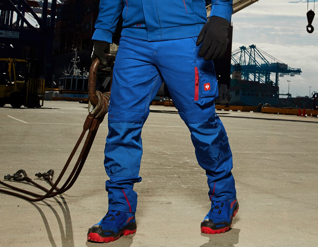 Work Trousers: Trousers e.s.motion 2020 + royal/fiery red