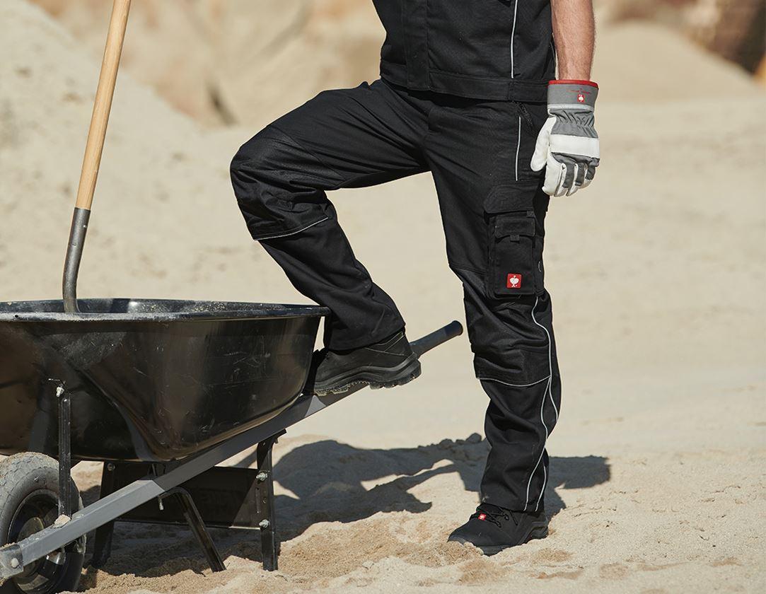 Pantalons de travail: Pantalon à taille élastique e.s.prestige + noir