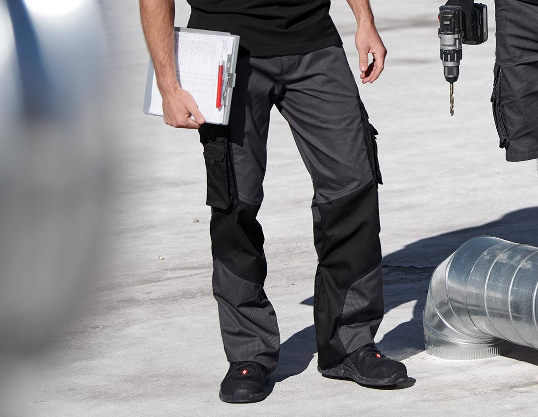 Work Trousers: Trousers e.s. carat  + anthracite/black