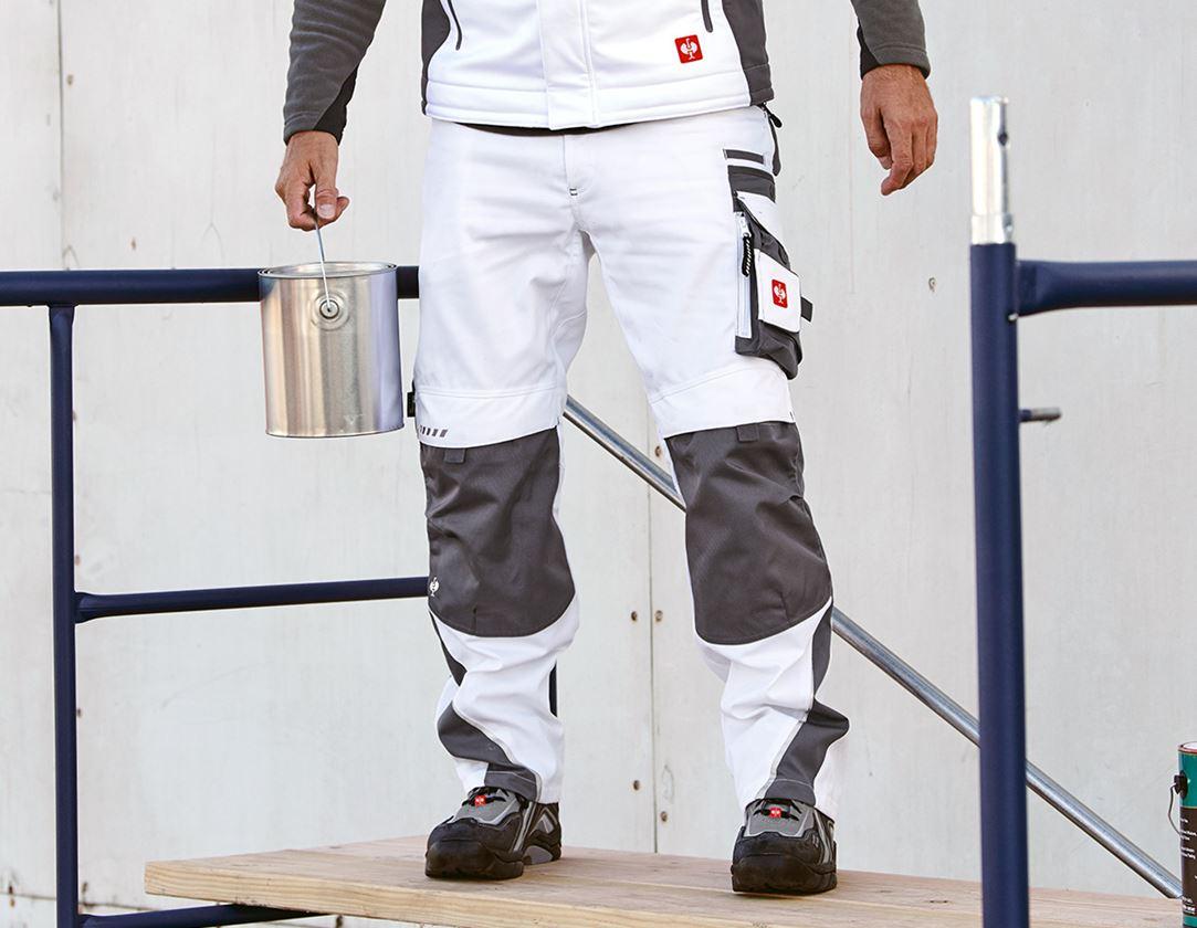 Hosen: Bundhose e.s.motion + weiß/grau