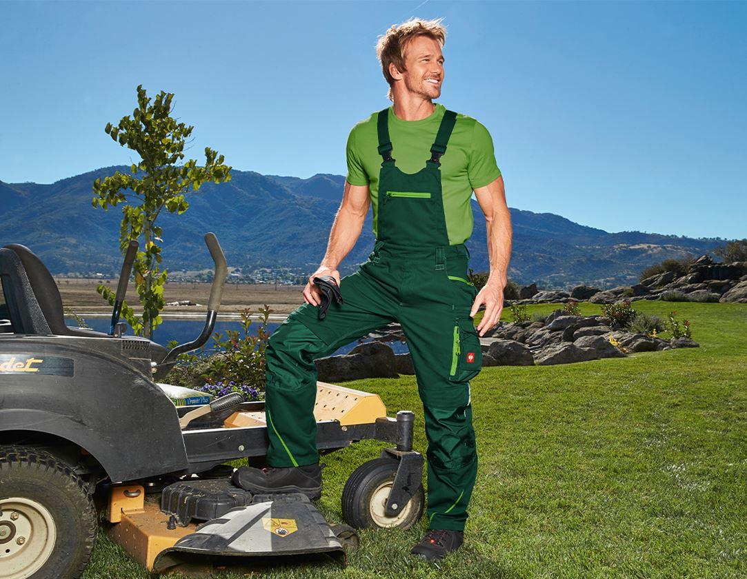 Work Trousers: Bib & brace e.s.motion 2020 + green/seagreen