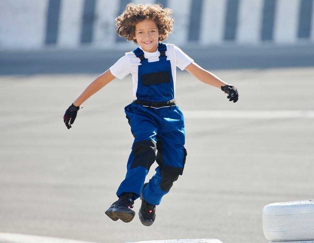 Pantalons: Salopette pour enfants e.s.image + bleu royal/noir