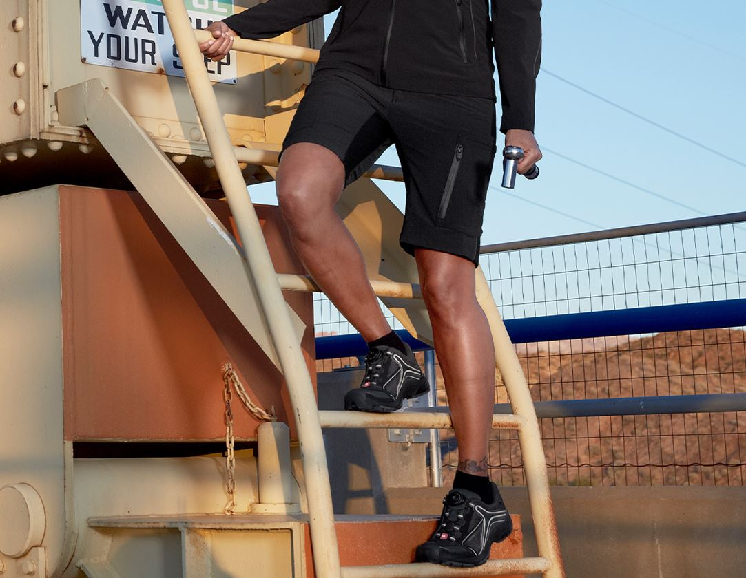 Work Trousers: Shorts e.s.vision stretch, ladies' + black