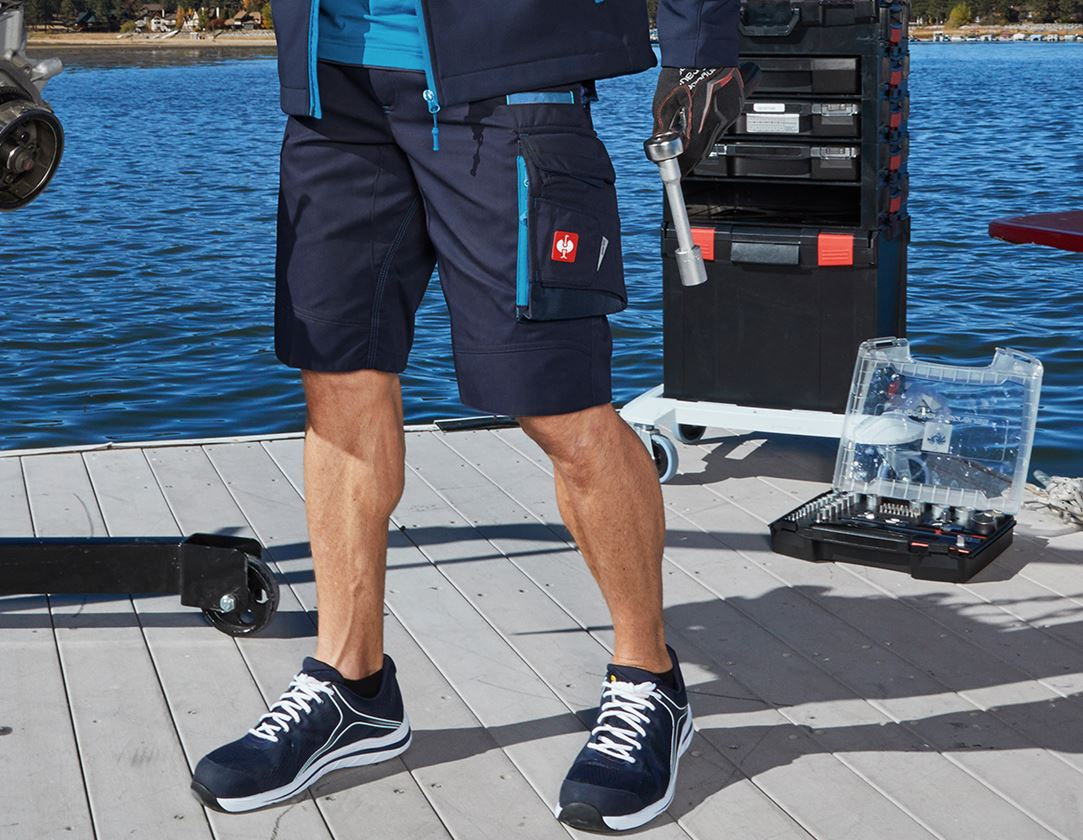 Work Trousers: Shorts e.s.motion 2020 + navy/atoll