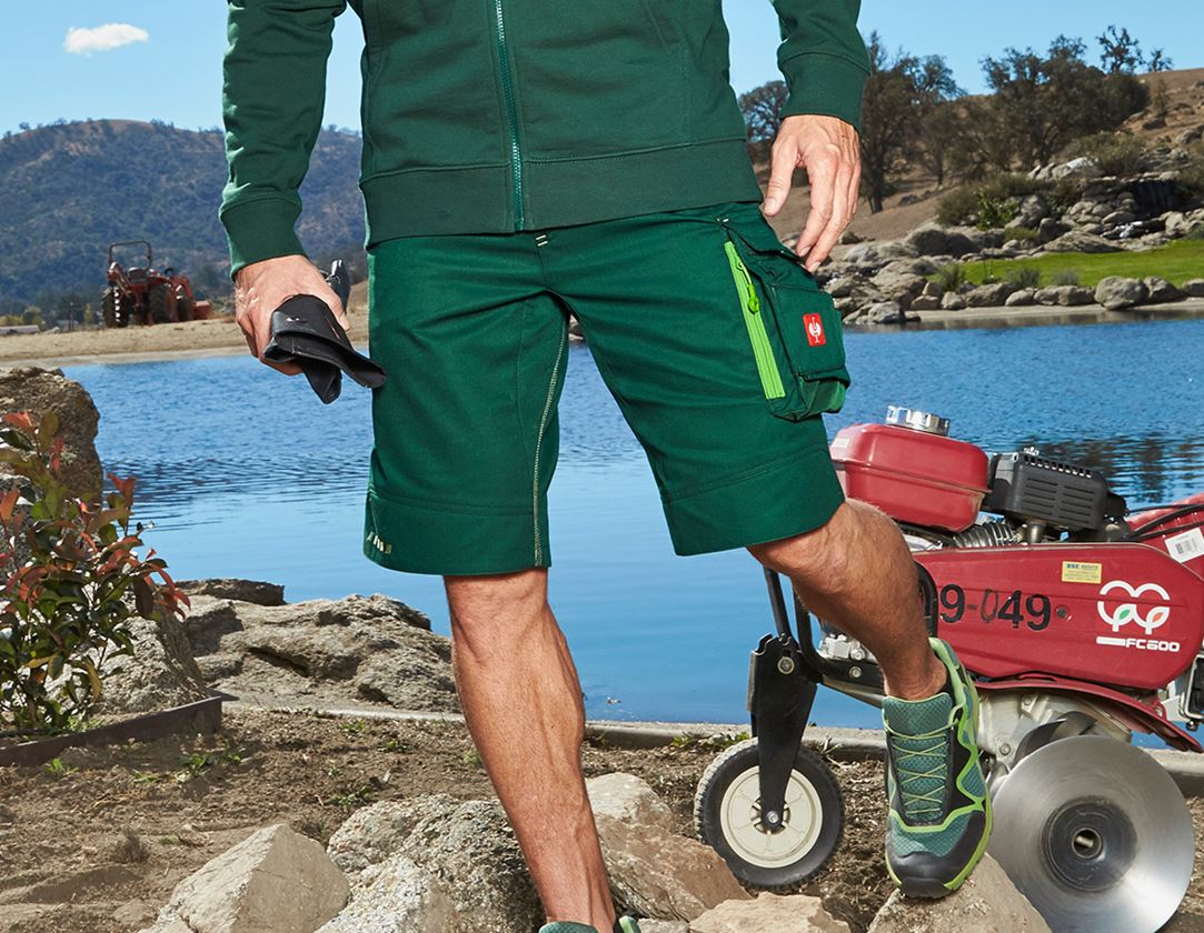 Work Trousers: Shorts e.s.motion 2020 + green/seagreen
