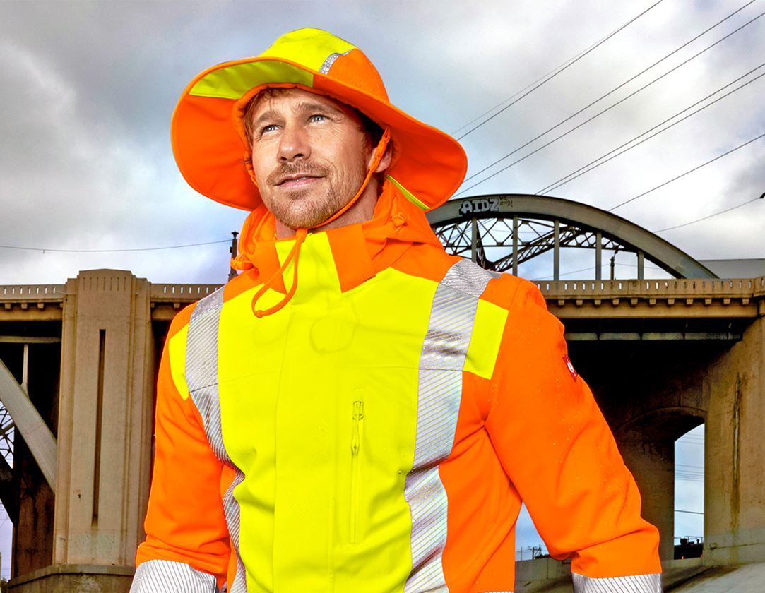 Accessories: Functional rain hat e.s.motion 2020 + high-vis yellow/high-vis orange