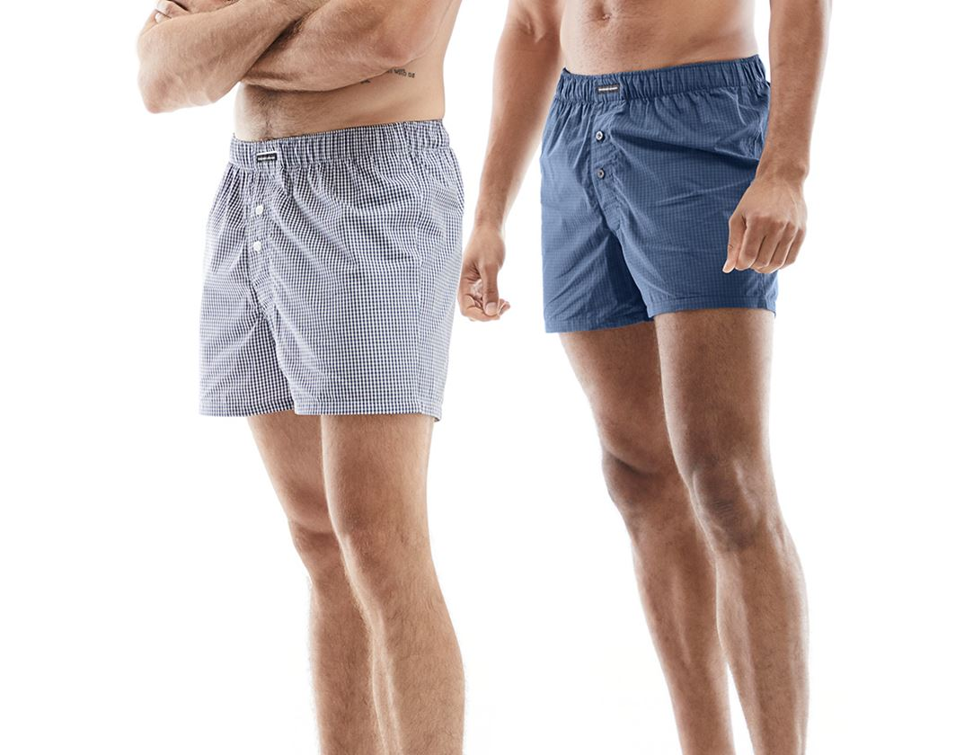 Underwear | Functional Underwear: e.s. Boxer shorts, pack of 2 + white/pacific+pacific/cobalt