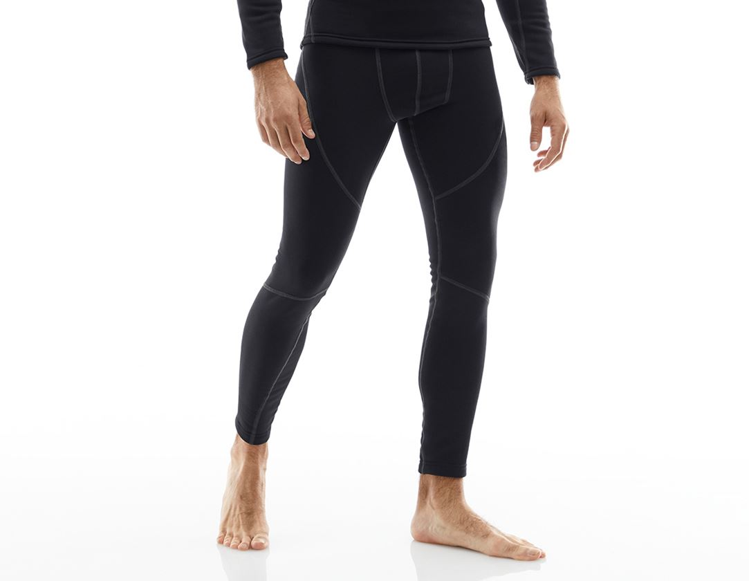 Unterwäsche   Thermokleidung: e.s. Funktions-Long Pants thermo stretch-x-warm + schwarz