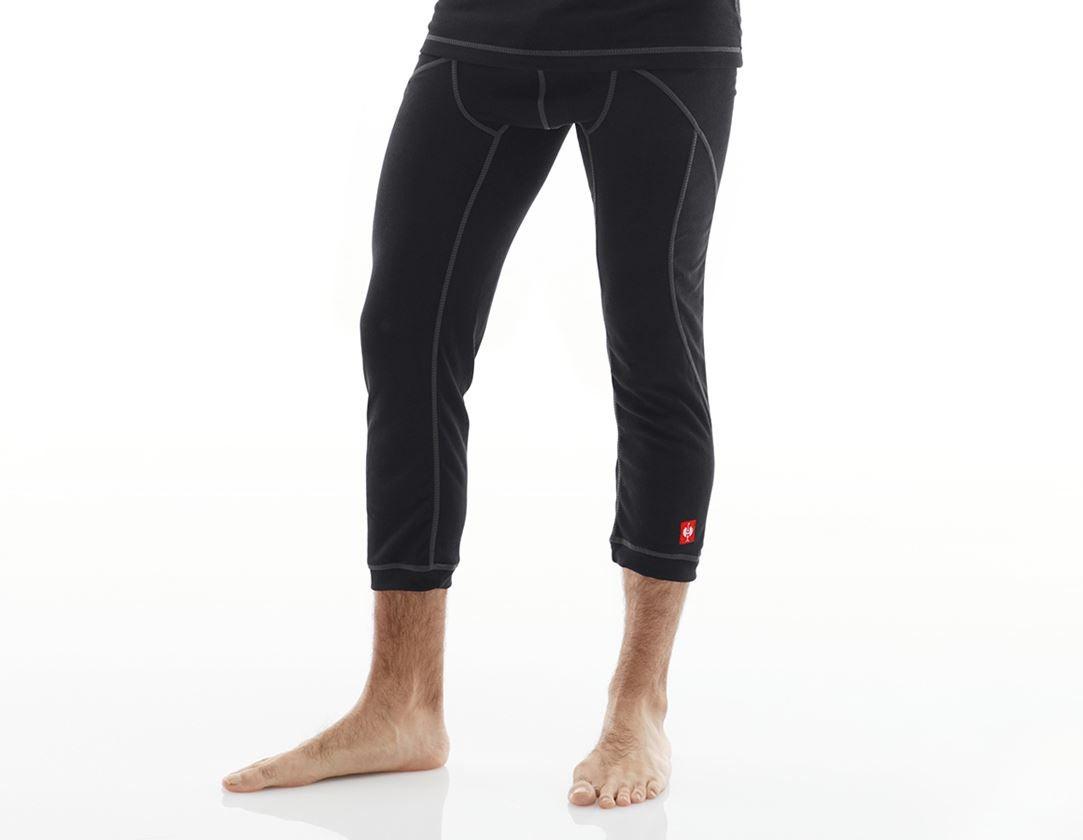 Underwear | Functional Underwear: e.s. functions 3/4-pants basis-warm + black