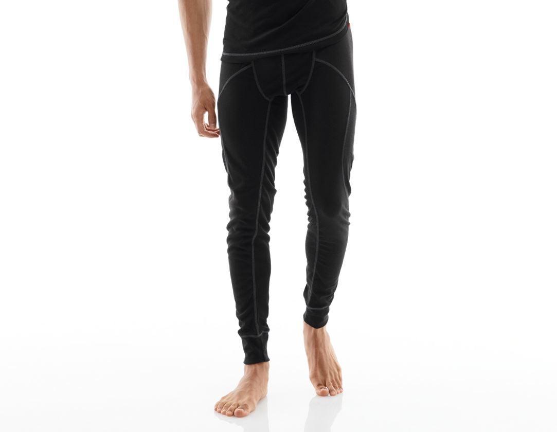 Unterwäsche   Thermokleidung: e.s. Funktions-Long Pants basis-warm + schwarz