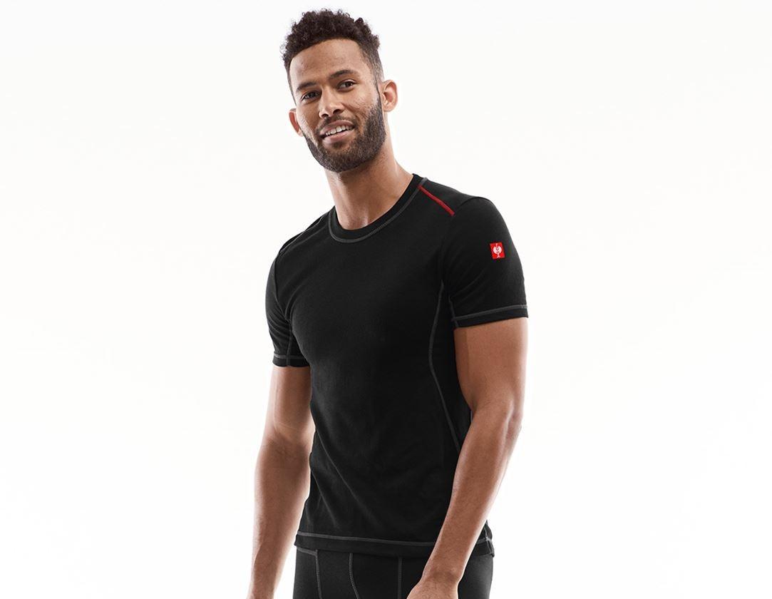 Unterwäsche   Thermokleidung: e.s. Funktions-T-Shirt basis-light + schwarz