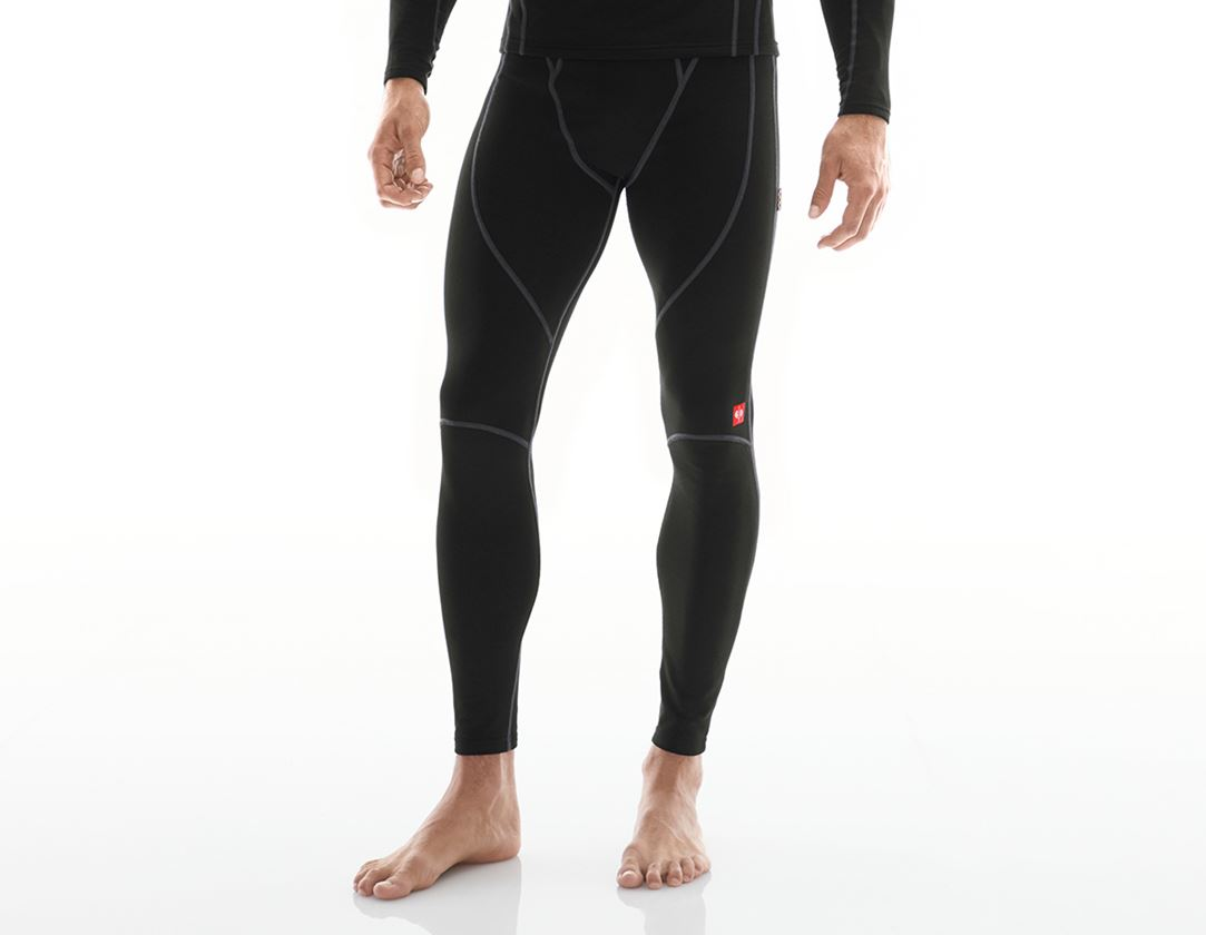 Unterwäsche | Thermokleidung: e.s. Funkt.Long Pants clima-pro-warm, Herren + schwarz