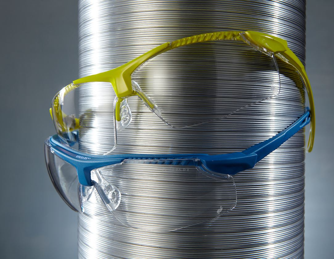 Safety Glasses: e.s. Safety glasses Loneos + high-vis yellow