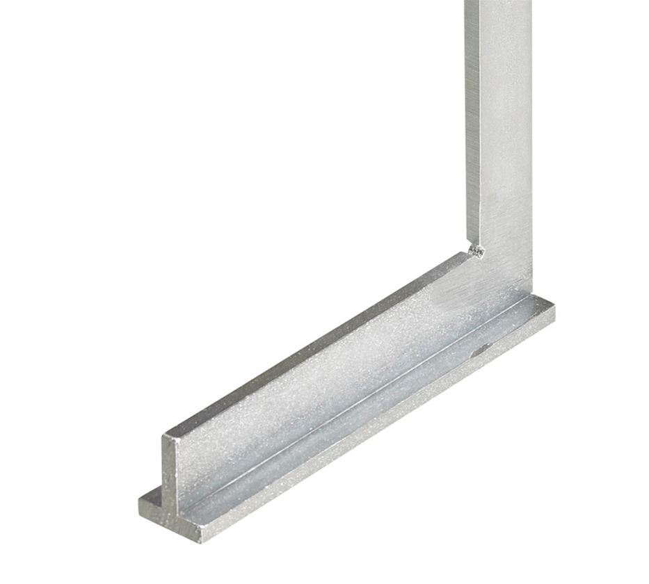 Measuring tools: Engineer steel square with stopper edge