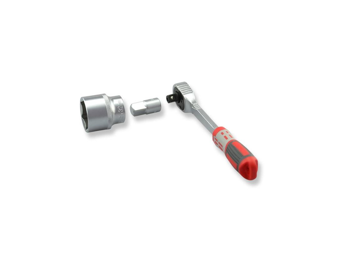Socket wrench: e.s. Enlargement adapter 3/8 to 1/2