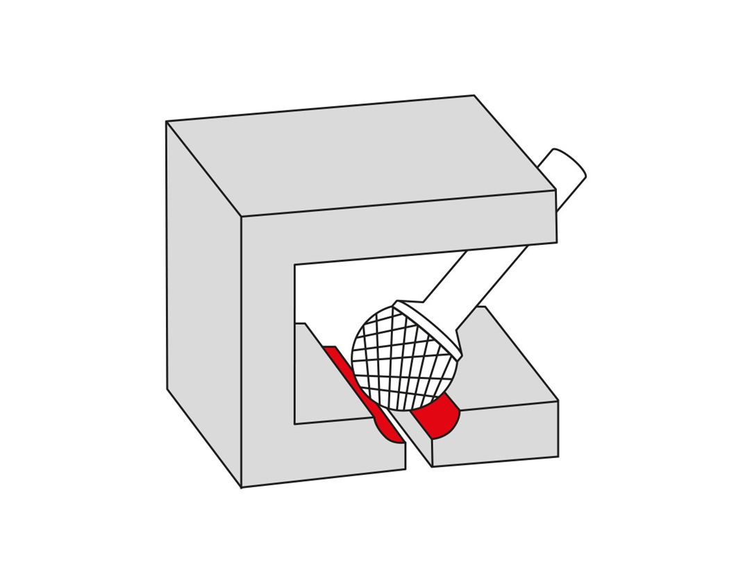 Drills: e.s. HM rotary cutter ball