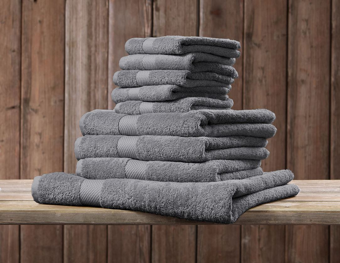 Cloths: Terry cloth towel Premium pack of 3 + anthracite