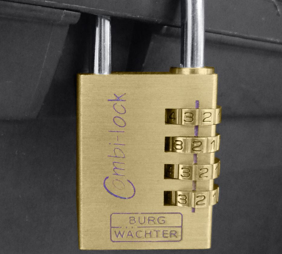 Small parts: Burg-Wächter security combination lock