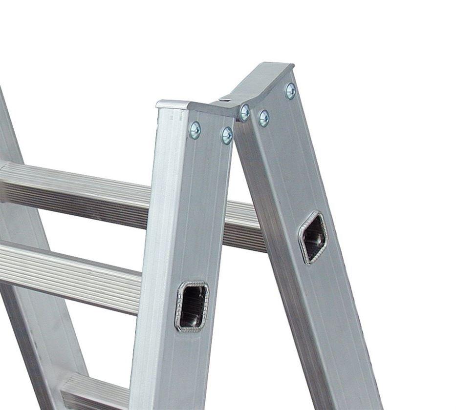 Ladders: KRAUSE Alu-Sprossen-Doppelleiter