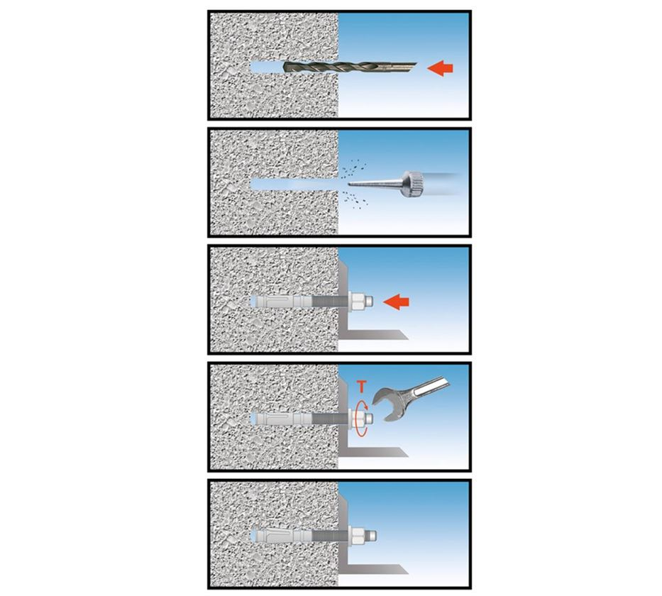 Wall plugs: Wedge anchor BA