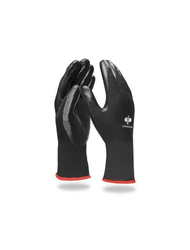 Beschichtet: Nitril-Handschuhe Flexible + schwarz