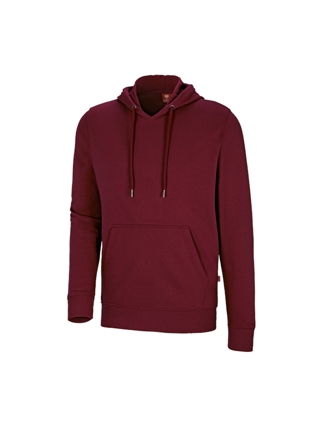 Shirts, Pullover & more: e.s. Hoody sweatshirt poly cotton + bordeaux