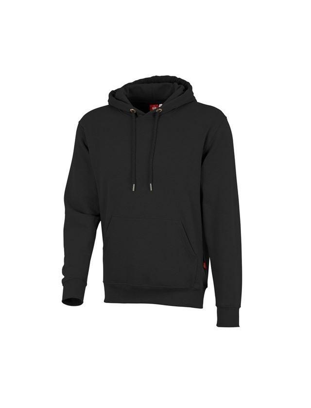 Shirts & Co.: e.s. Hoody-Sweatshirt poly cotton + schwarz