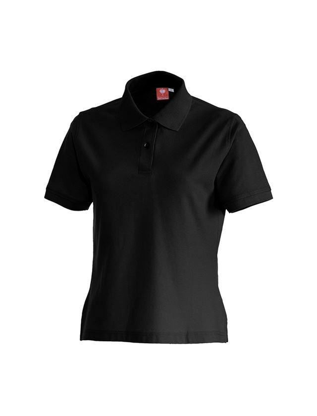 Shirts, Pullover & more: e.s. Polo shirt cotton, ladies' + black
