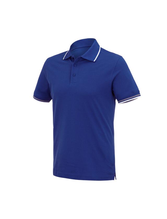 Shirts, Pullover & more: e.s. Polo shirt cotton Deluxe Colour + royal/aluminium