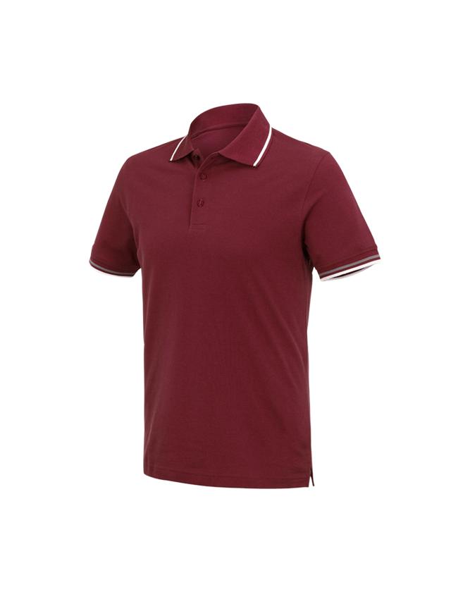 Shirts, Pullover & more: e.s. Polo shirt cotton Deluxe Colour + bordeaux/aluminium