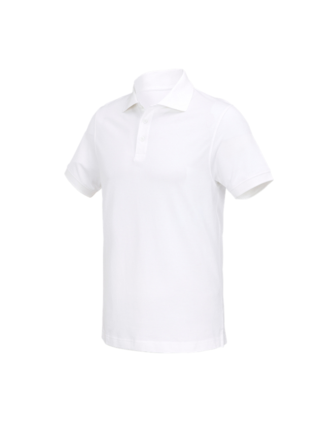 Shirts, Pullover & more: e.s. Polo shirt cotton Deluxe + white