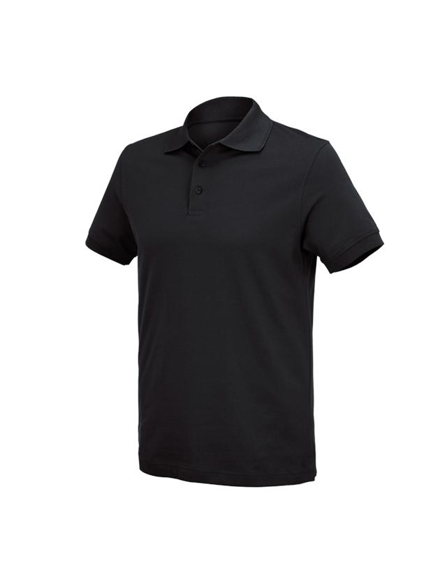 Shirts, Pullover & more: e.s. Polo shirt cotton Deluxe + black
