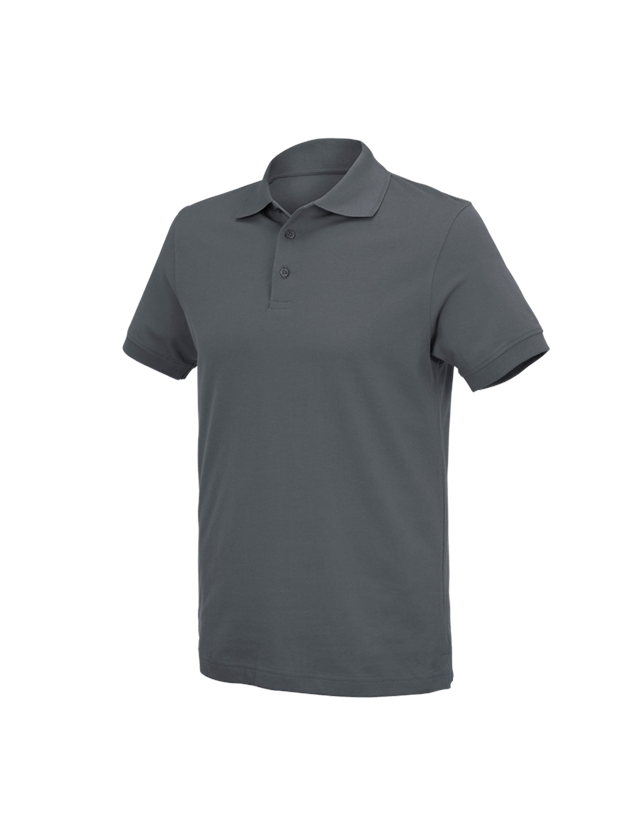 Shirts, Pullover & more: e.s. Polo shirt cotton Deluxe + anthracite