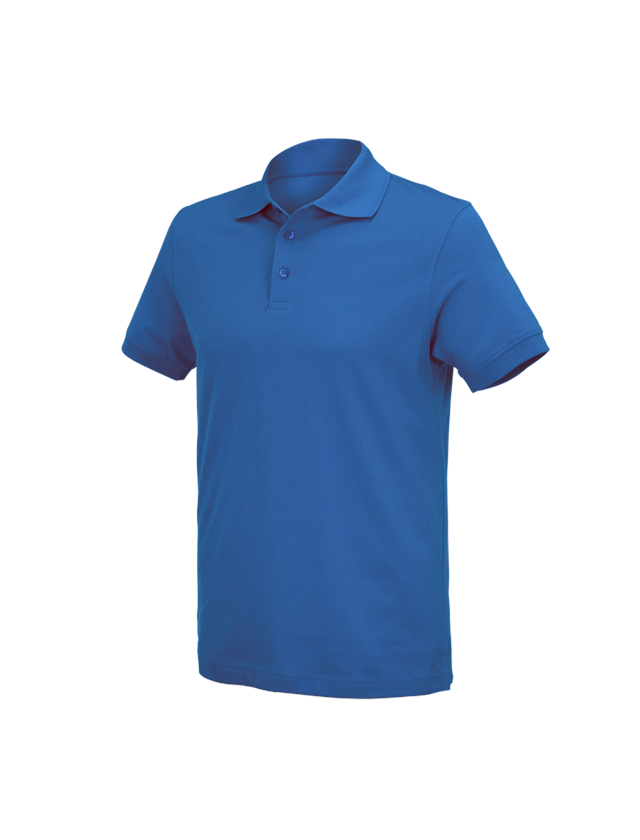 Shirts, Pullover & more: e.s. Polo shirt cotton Deluxe + gentian blue