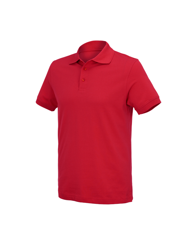 Shirts, Pullover & more: e.s. Polo shirt cotton Deluxe + fiery red