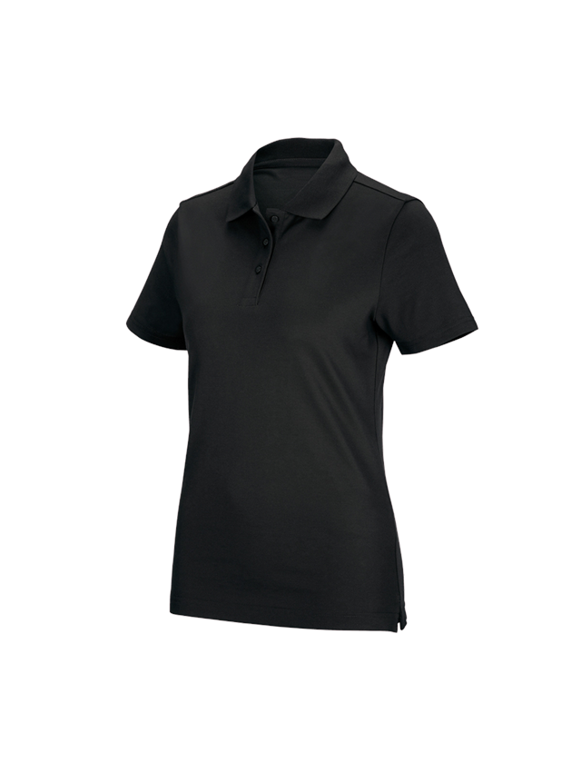 Shirts, Pullover & more: e.s. Functional polo shirt poly cotton, ladies' + black