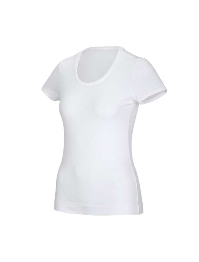 Shirts, Pullover & more: e.s. Functional T-shirt poly cotton, ladies' + white
