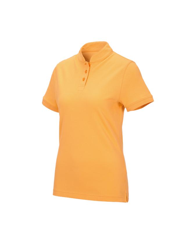 Shirts, Pullover & more: e.s. Polo shirt cotton Mandarin, ladies' + lightorange
