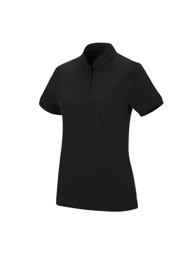 Shirts, Pullover & more: e.s. Polo shirt cotton Mandarin, ladies' + black